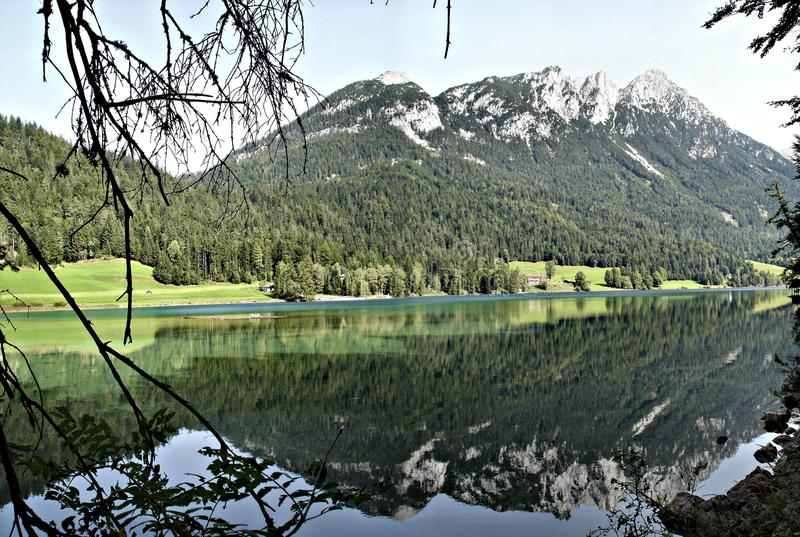 Reflection in a mountain lake royalty free stock images