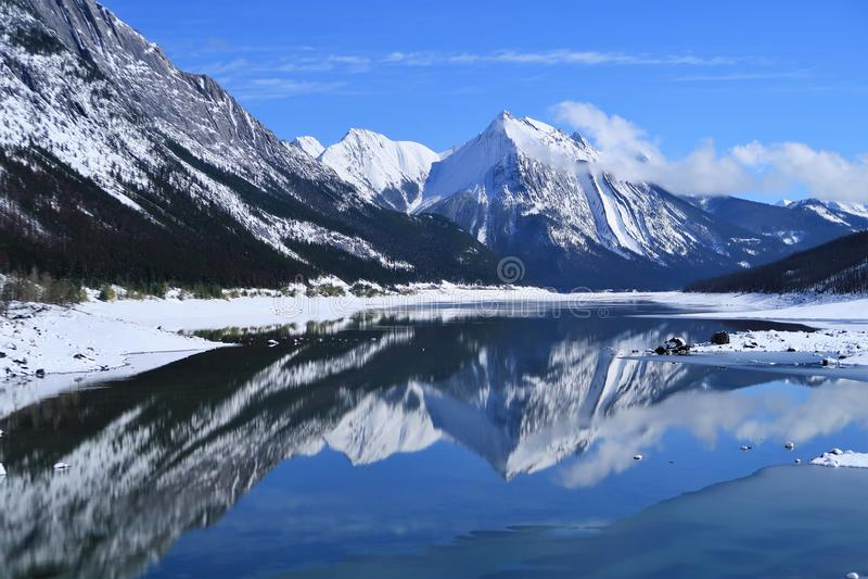 Reflection, Nature, Mountainous Landforms, Mountain Free Public Domain Cc0 Image