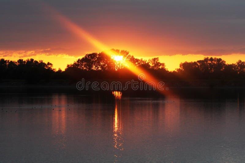 Reflection, Nature, Sky, Sunset royalty free stock photo