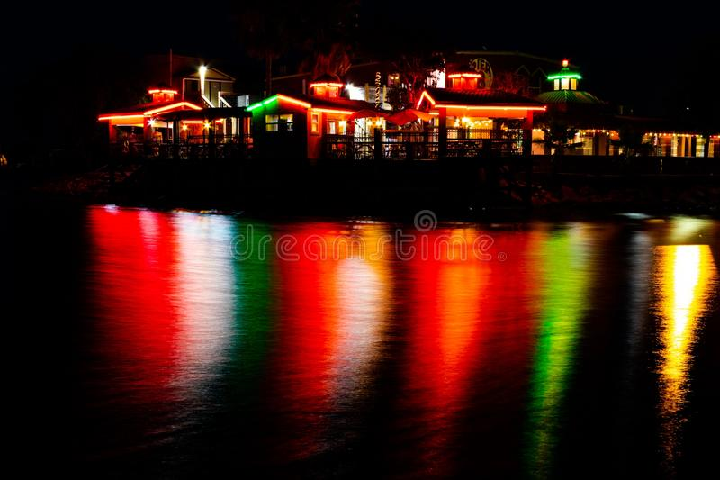 Reflection, Night, Body Of Water, Water royalty free stock images