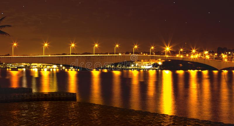Reflection, Night, Body Of Water, Bridge royalty free stock image