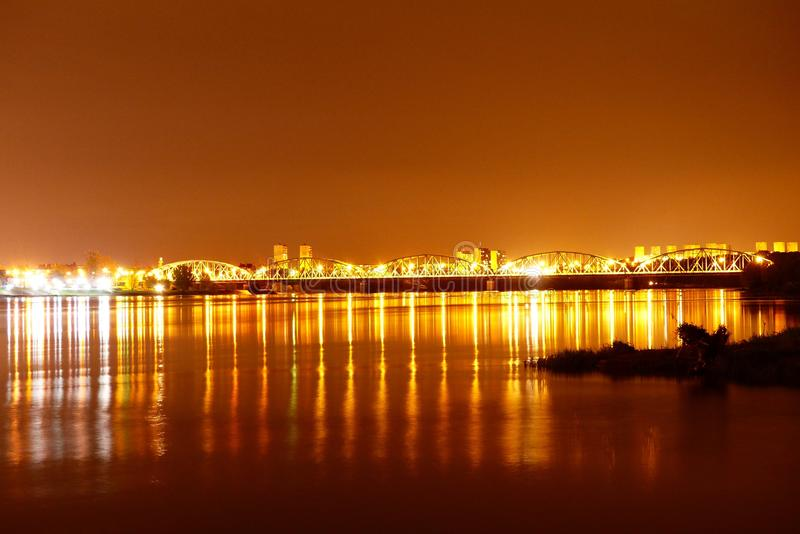 Reflection, Night, Body Of Water, Cityscape stock images