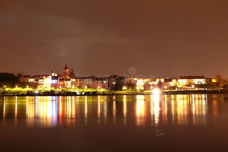 Reflection, Night, Cityscape, Body Of Water royalty free stock images