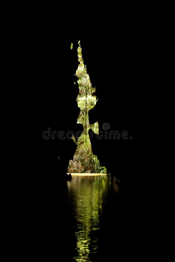 Reflection, Night, Darkness, Water royalty free stock photo