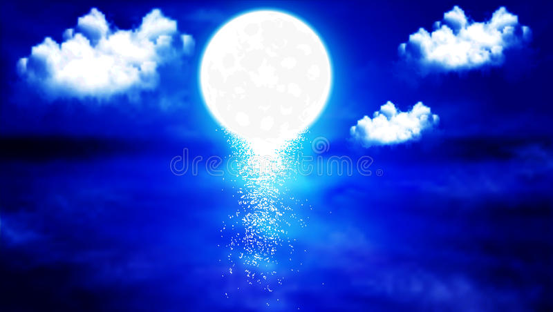 A reflection of the night sky in the lake. The reflection of the night sky in the lake, vector art illustration royalty free illustration