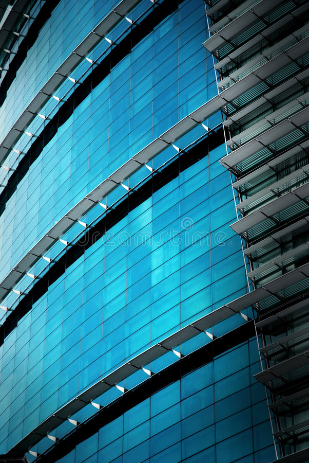 Free Reflection Office Building Glass Wall Royalty Free Stock Photography - 7019907