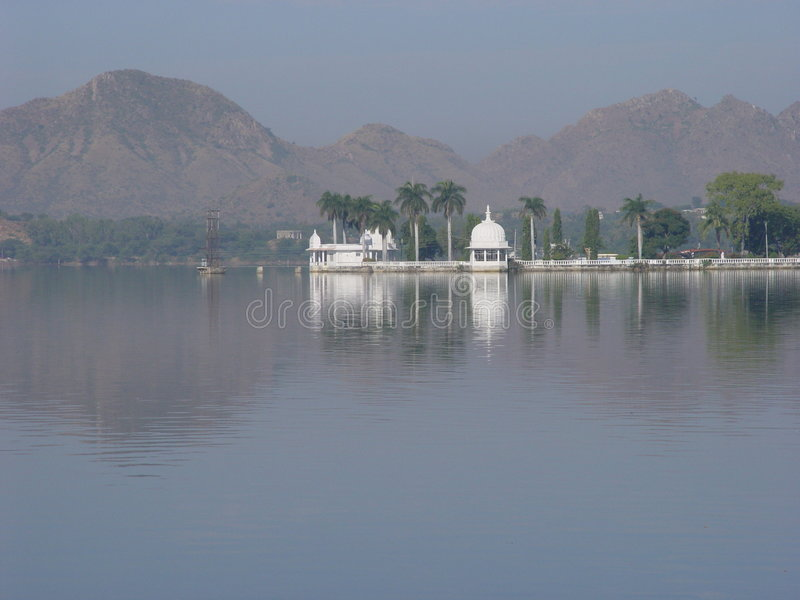 Reflection of palace in lake royalty free stock photo