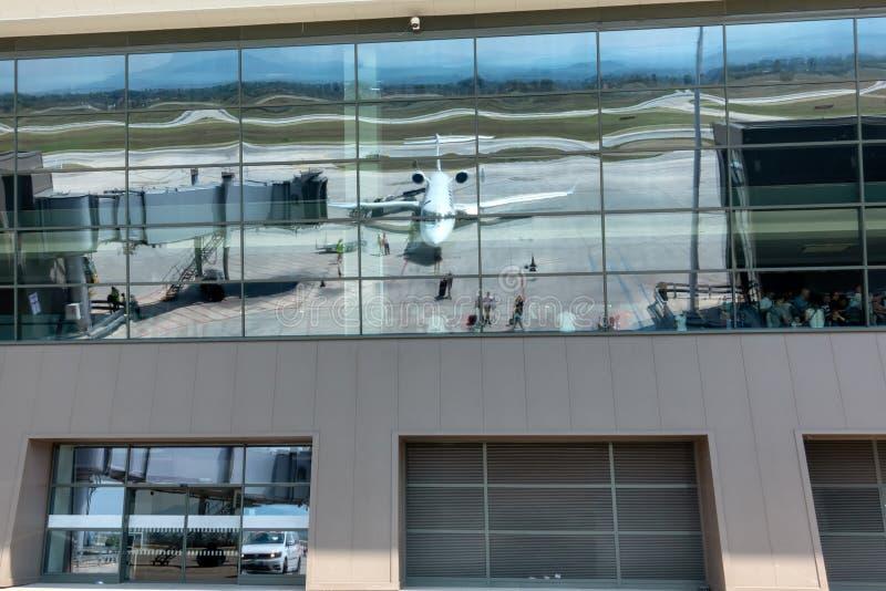 Windows Of Passenger Airplane Stock Photo Image Of