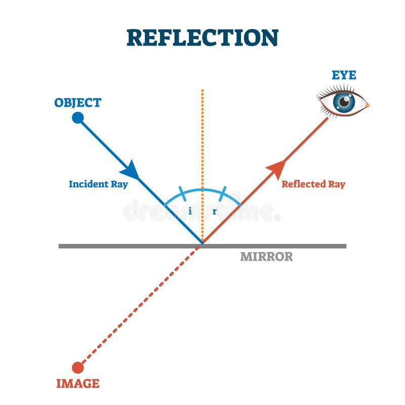 Free Reflection Ray Scheme, Vector Illustration Diagram Stock Photography - 169999122