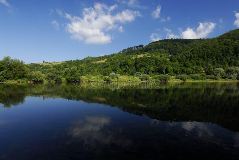 Reflection in San river stock photos