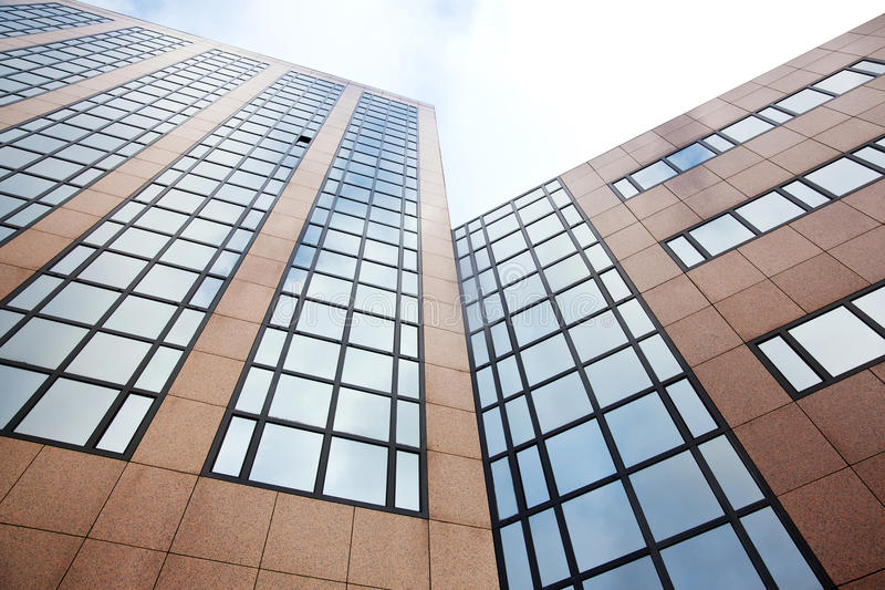 Download Reflection Of Sky And Clouds In Modern Office Building Stock Photo - Image: 34305628