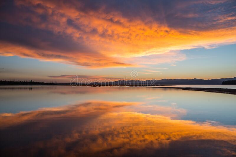 Reflection, Sky, Horizon, Afterglow royalty free stock photography