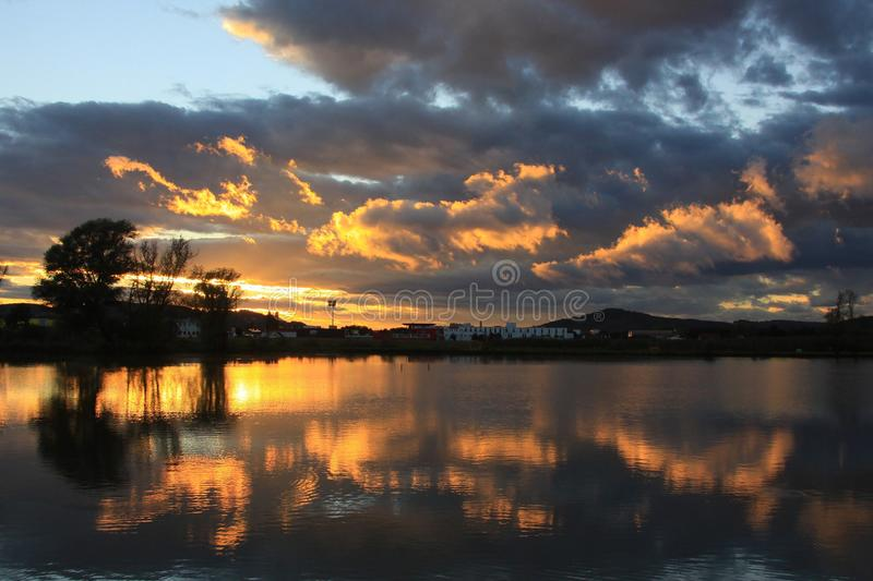 Reflection, Sky, Nature, Water stock photography