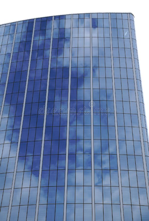 Reflection of sky on skyscraper's windows stock image