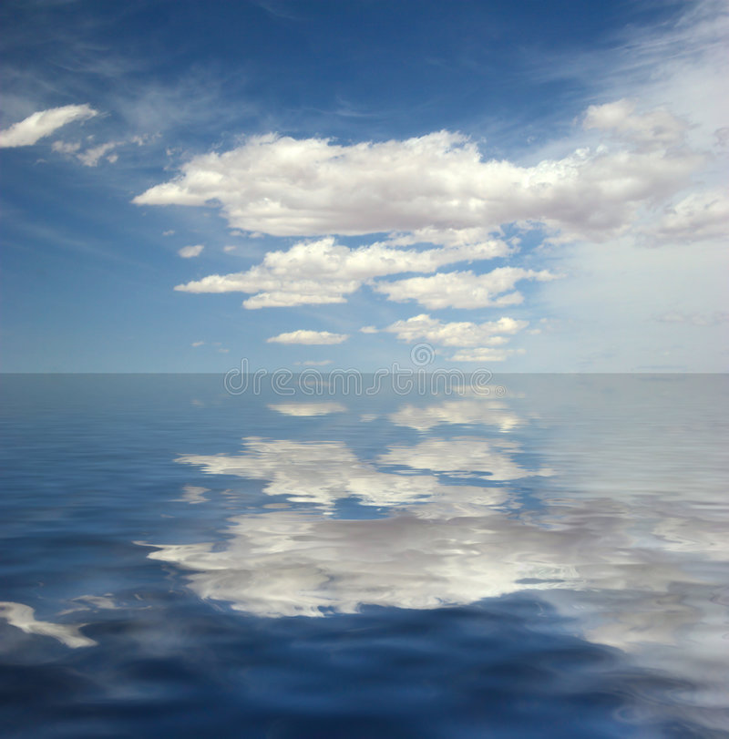 Download Reflection Of The Sky In Water Stock Illustration - Illustration of cloudscape, cumulus: 7106400