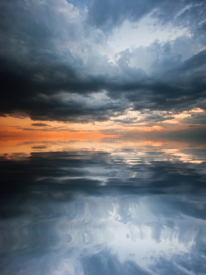 Download Reflection Of The Sky In Water Stock Illustration - Image: 7324640