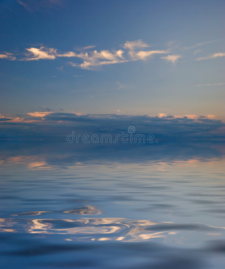 Download Reflection Of The Sky In Water Stock Illustration - Illustration of dream, background: 7324888