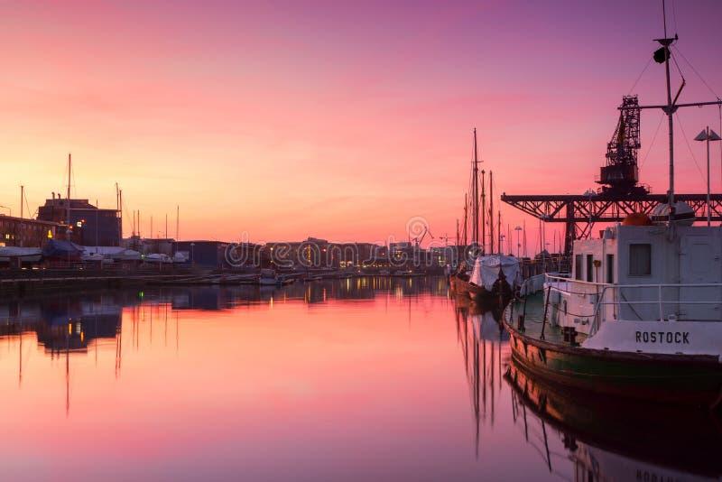 Reflection, Sky, Waterway, Sunset stock photo