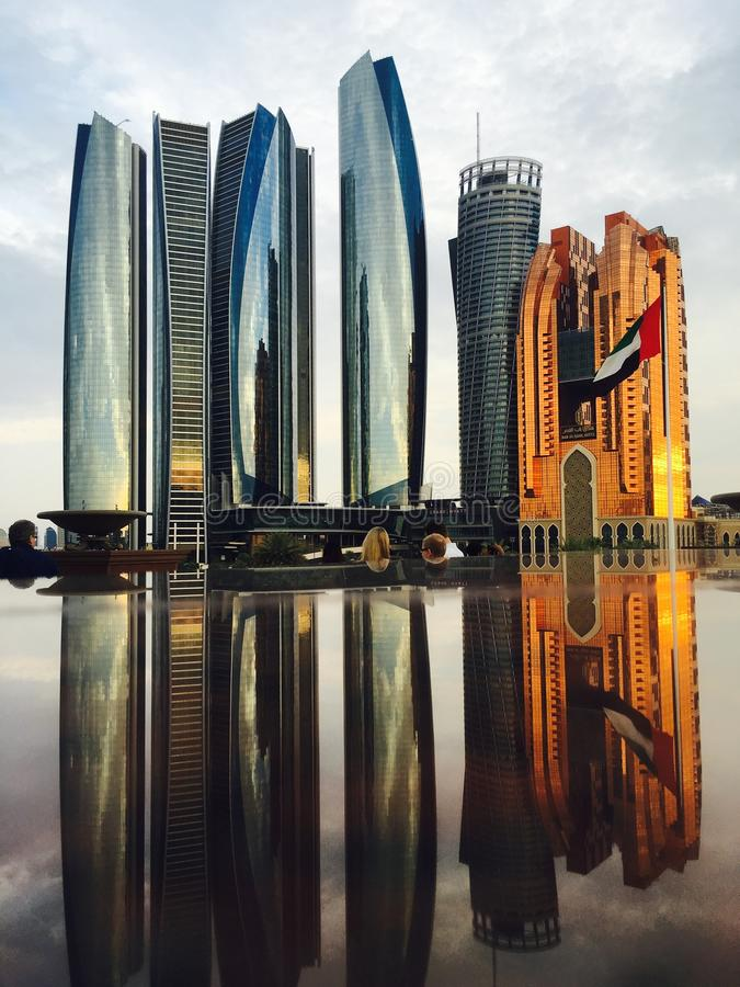 Reflection of Skyscrapers in City royalty free stock photo