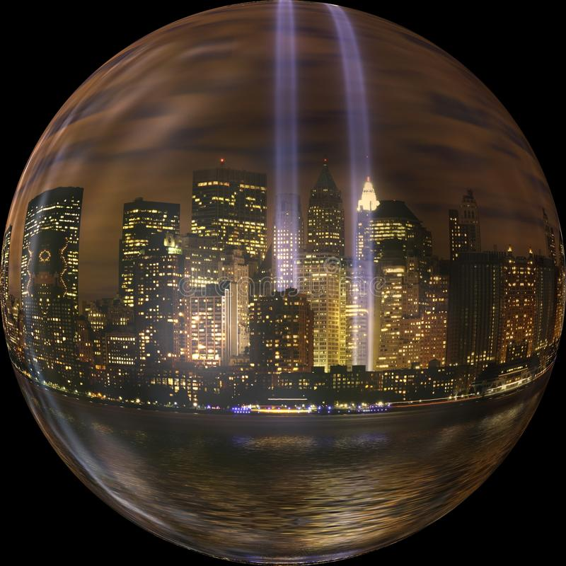 Reflection, Sphere, Water, Night stock photos