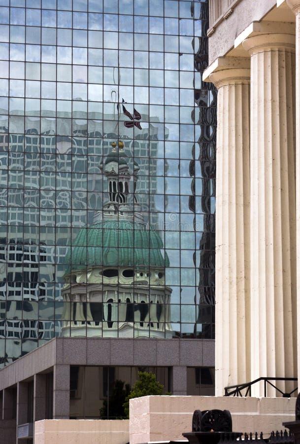 Reflection St. Louis Courthouse. stock photos