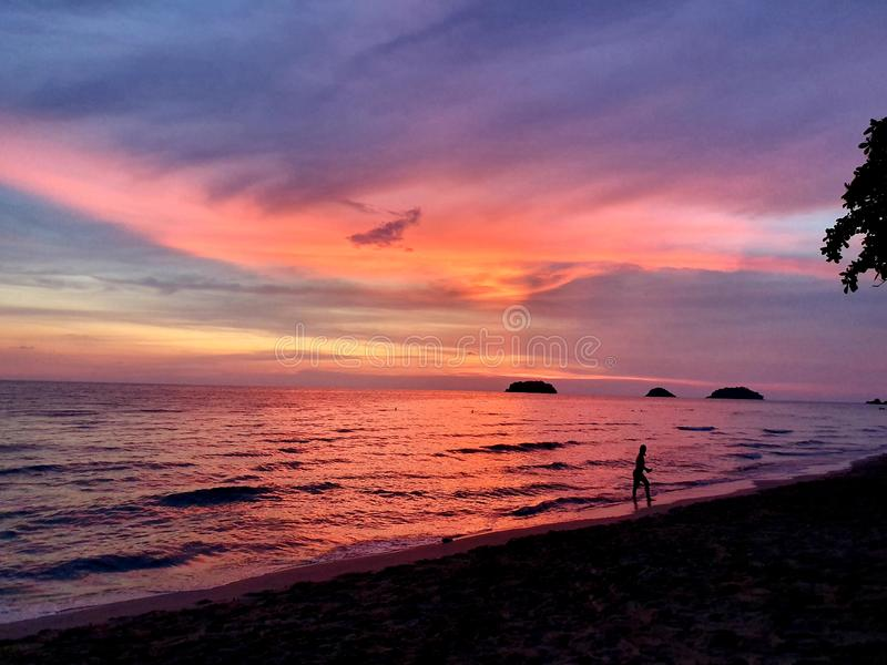 Reflection at sunset royalty free stock image