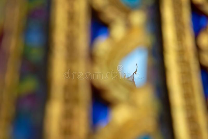 Reflection of Top Pagoda royalty free stock photo