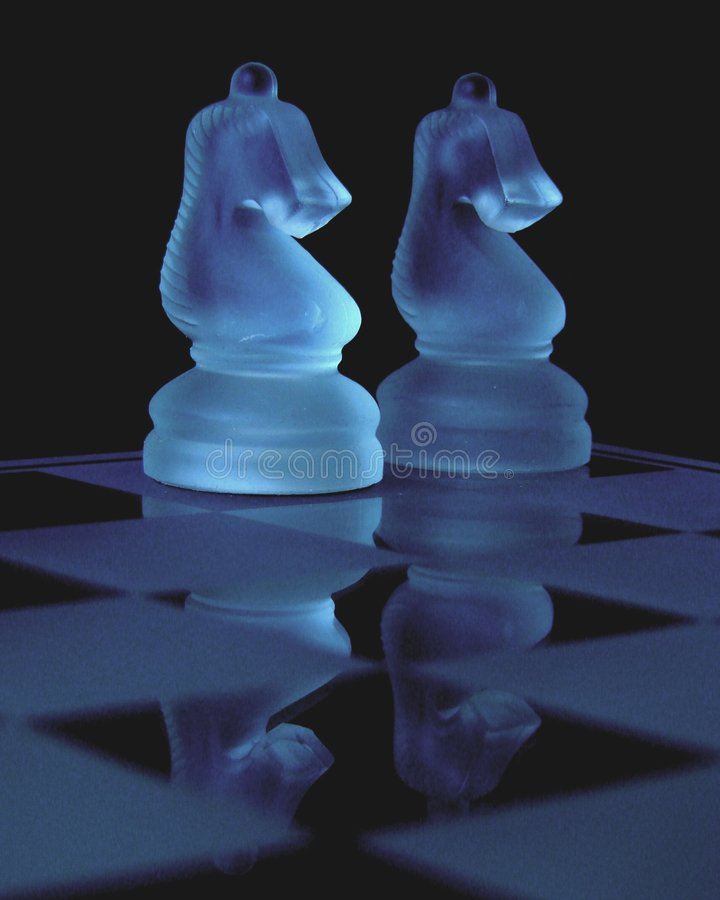 Reflection of Two Knights royalty free stock photography