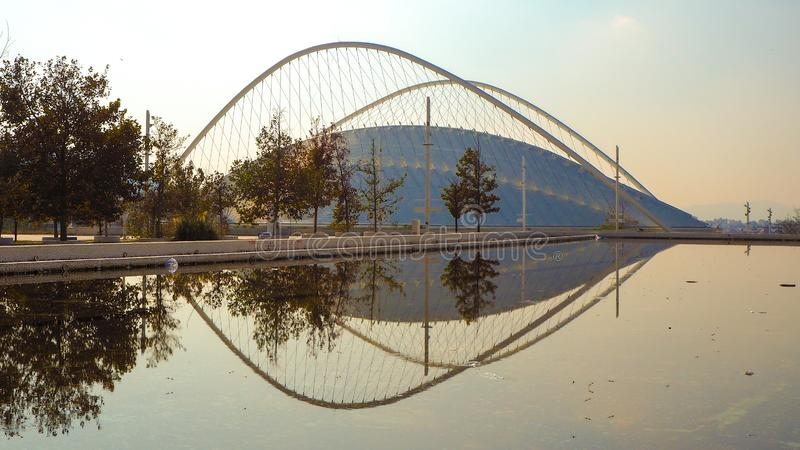 Reflection of Velodrome in the water royalty free stock images