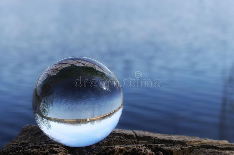 Reflection, Water, Close Up, Sphere stock image