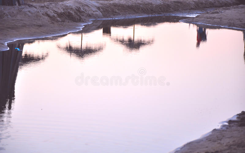 The reflection in the water stock photography