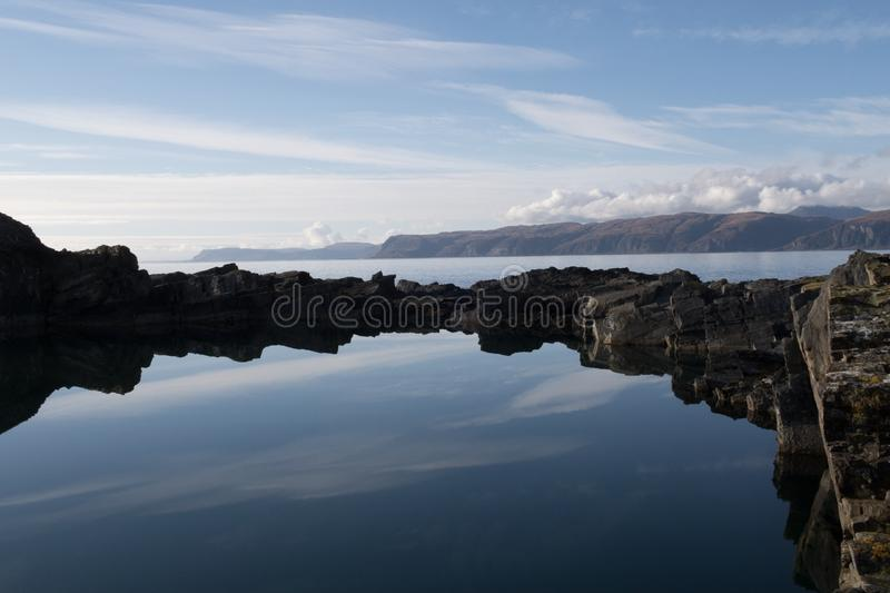 Reflection, Water, Sky, Sea stock image