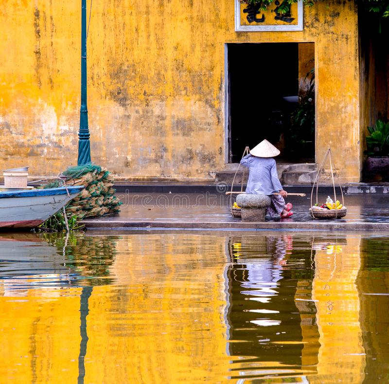 Reflections, Hoi An, Vietnam royalty free stock images