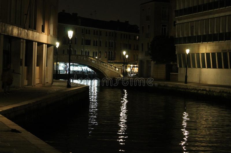 Reflection, Waterway, Water, Night royalty free stock images