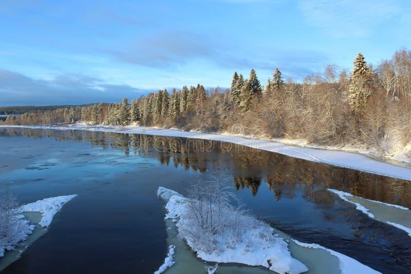 Reflection, Winter, Water, Snow stock photos
