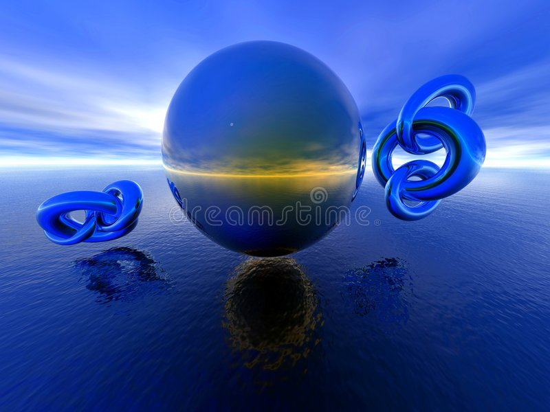 Download Reflections. stock illustration. Image of torus, scenery - 141512