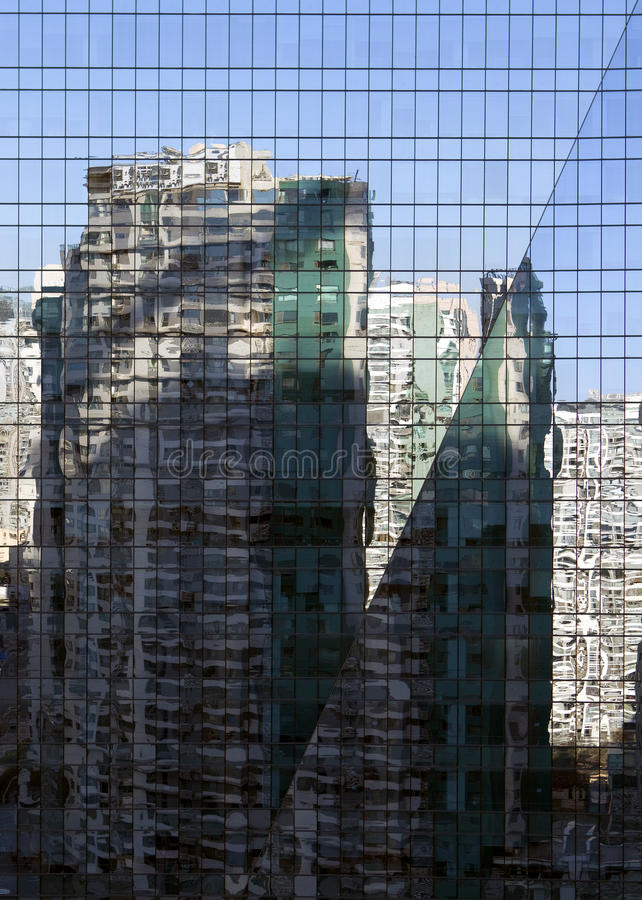 Reflections In Bulding Royalty Free Stock Photos