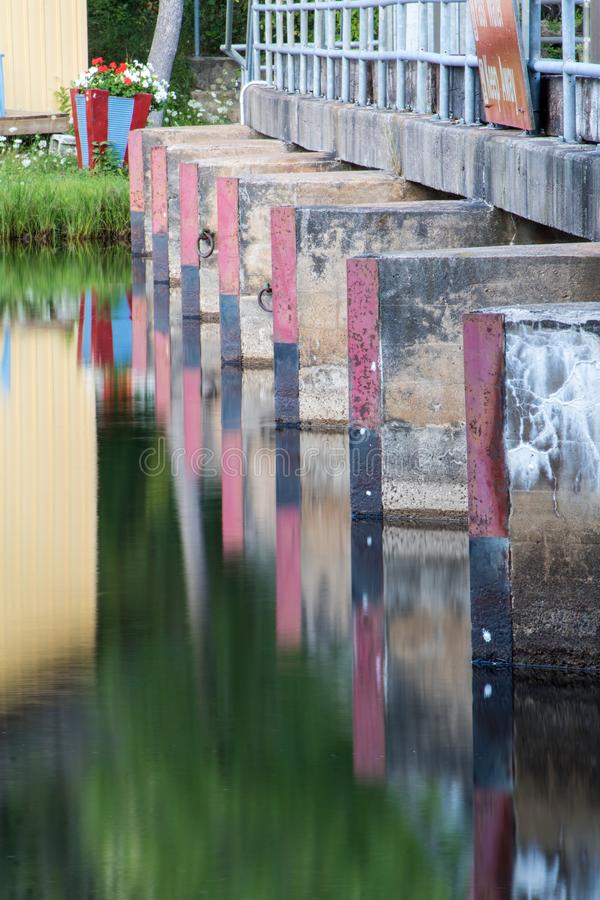 Reflections On The Burnt River In Kinmount, Ontario royalty free stock image