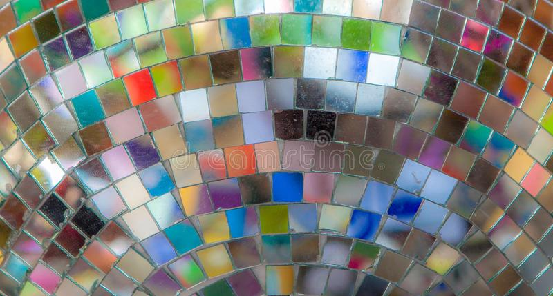 Reflections of Color in a Mirrored Disco Ball stock image