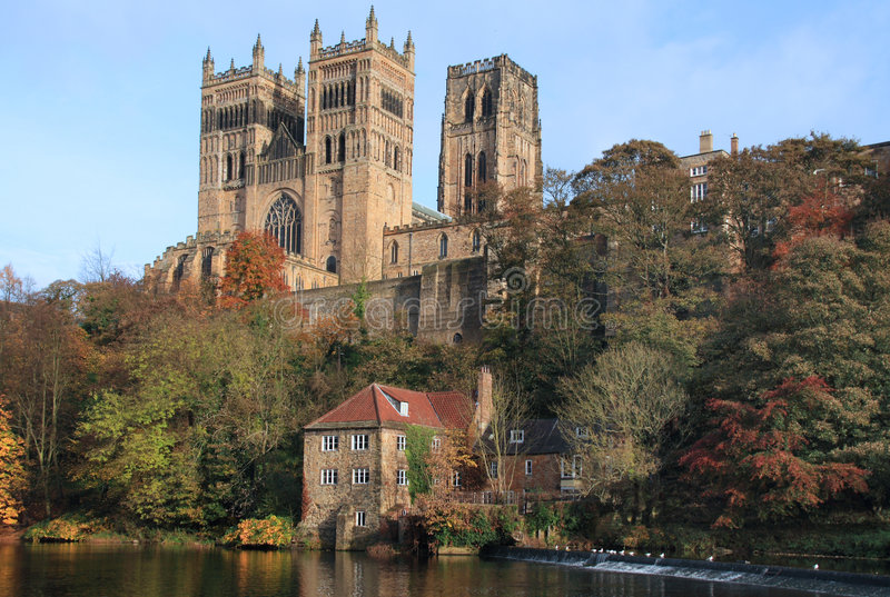 Reflections of Durham Cathedral stock images