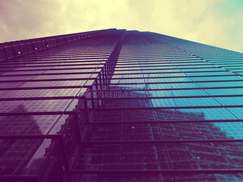 Reflections in high rise building stock photos