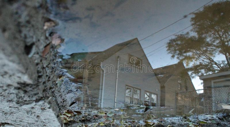 Reflections on a home unknown royalty free stock images