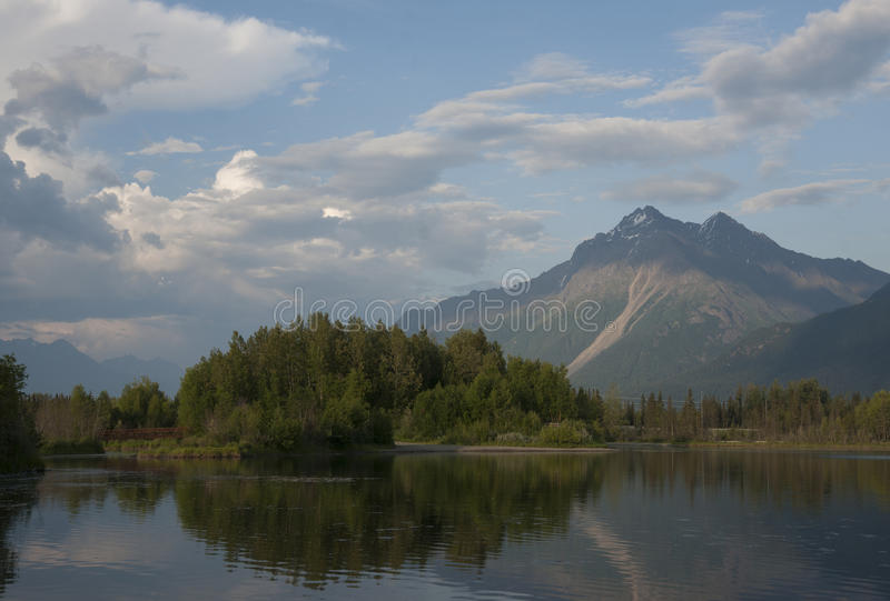Download Reflections Lake Palmer Alaska Stock Image - Image of marsh, peaks: 56619031