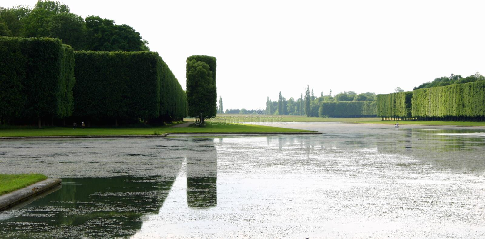 Reflections in a Lake, Versailles Palace stock photography