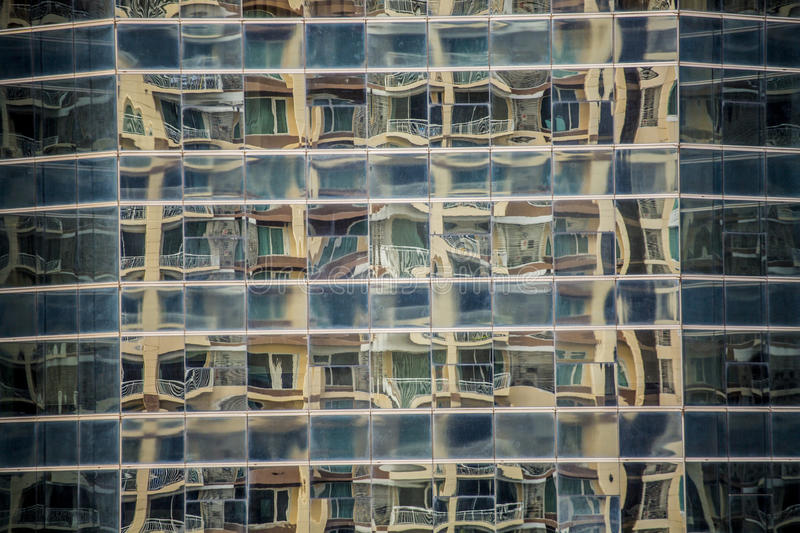Download Reflections In Office Building Windows Stock Image - Image of abstract, glass: 76364089