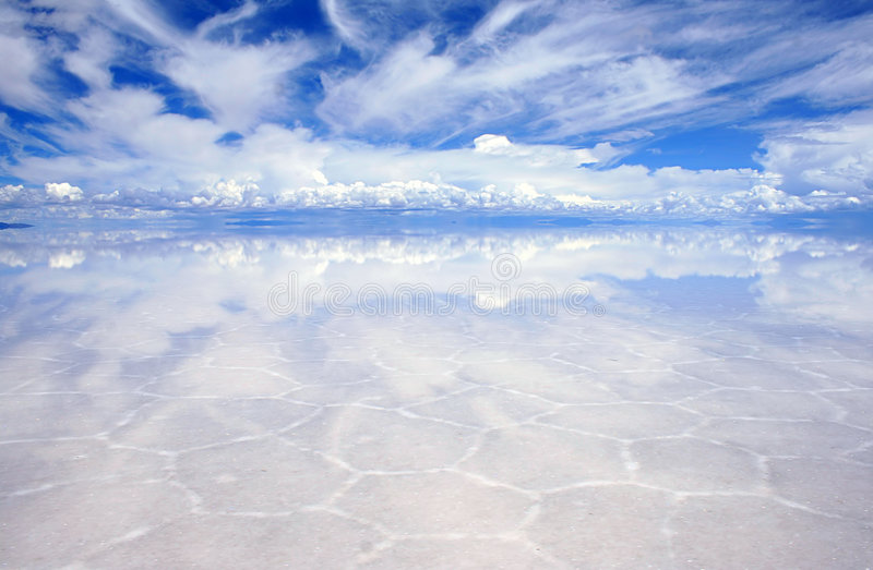Reflections On The Saltflats Royalty Free Stock Photos