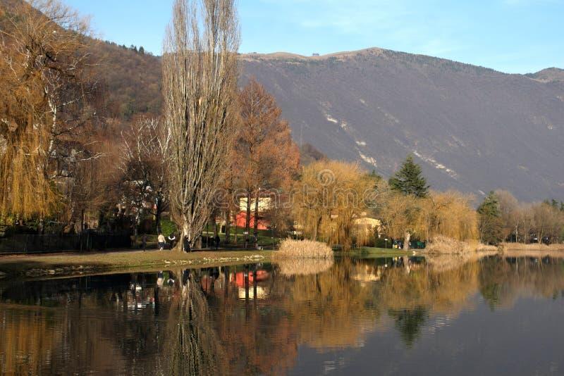 Glimpse of Lake Endine - BG Lombardy Italy stock photo