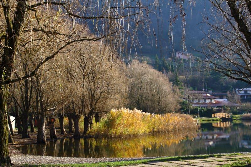 Glimpse of Lake Endine - BG Lombardy Italy royalty free stock photos