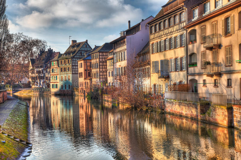 Reflections In Strasbourg Royalty Free Stock Photography