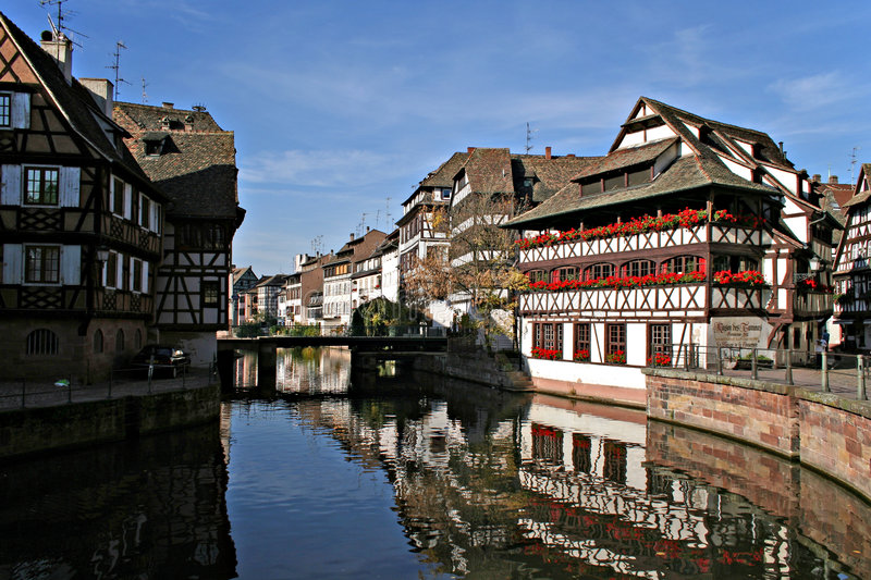 Download Reflections in Strasbourg stock image. Image of strasbourg - 451183